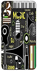 Timpax Hard Back Case Cover Printed Design : Music in our town.For Asus Zenfone 5 ( A500CG )
