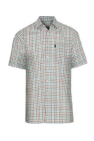 Champion Stowmarket Short Sleeve Casual Country Check Summer Shirt SS Poly Cotton Smart Holiday Shooting Hunting Sailing Beach (4XL - 50/52