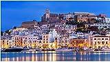 ZZXSY Puzzle 1000 Pezzi Adulti Ibiza Dalt Vila in Centro Adatto per Adulti