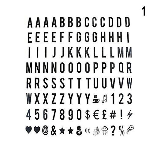 Binglinghua® Kino Licht bis Kreativität Box A4Größe Text Buchstabe Box Nachricht Board Decor Black Letters 104pcs