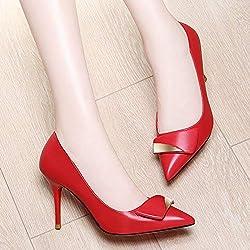 Yukun zapatos de tacón alto Los Zapatos De Tacón Alto De Lunares Finas con Las Mujeres Otoñales De Punta Suelta Los Zapatos Únicos De Ifashion De Otoño