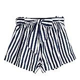 Shorts Damen Sommer Luckycat Kurze Sommerhosen Für Damen Volant Breites Bein Shorts Hose Sommerhosen Pants Hosen (Grau, X-Large)