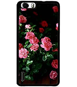 ColourCraft Beautiful Flowers Design Back Case Cover for HUAWEI HONOR 6
