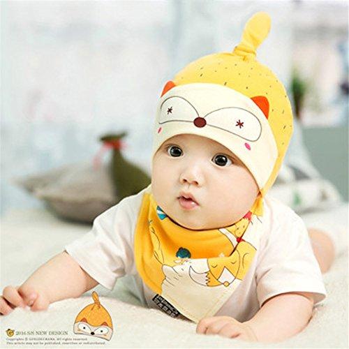 b-y-unisex-bambino-regolabile-nodo-cappello-e-bavaglino-set-bambino-312mesi-in-cotone-beanie