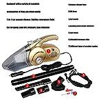 JAKROO Multifunktionsauto-Staubsauger/Notbeleuchtung/Luftpumpe/Test-Reifendruckprüfer - DC 12V 120W 4000pa Staubsauger-Staubsammler