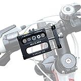 GVDV Soporte Bicicleta Aleación de aluminio para teléfono inteligente GPS móvil, Negro