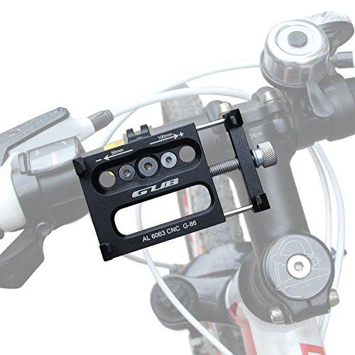 Produktbild Alloy Fahrrad Handy Halter Halterung,  GVDV Fahrradhalterung Stander Fahrradhalterung Lenkerhalter Universal-Fahrrad und Motorrad-Telefon-Einfassung Cradle für iOS,  Android Smartphones,  GPS und andere kompatible Geräte