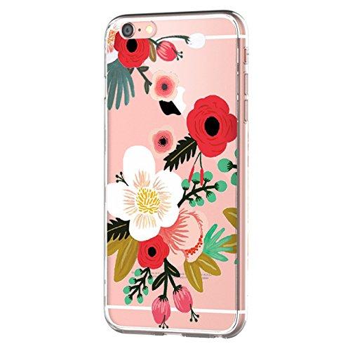 ülle Tasten Fonts Schutzhülle Clear Case Cover Bumper Anti-Scratch TPU Silikon Durchsichtig Handyhülle für iPhone 6 Plus/6s Plus (Apple iPhone 6/6s, Color 9) (Sechs Tasten)