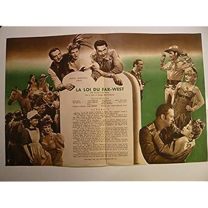Dossier de presse de La Loi du Far-West (1943) – Film de George Archainbaud avec Claire Trevor, Albert Dekker – Photos N&B + résumé du scénario – Bon état.