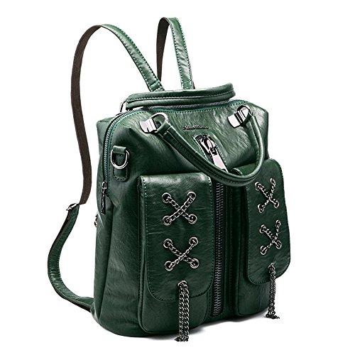 Preisvergleich Produktbild SJMMBB Modische doppel Schultertasche multifunktionale Tasche, grün, 30 X 27 X 15 CM