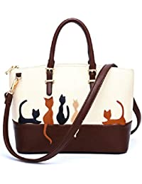 Bags for Women,Women Cat Leather Shoulder Bag Cross Body Purse Handbag Messenger