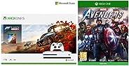 Microsoft 1 TB Xbox One S Console - Forza Horizon 4 Bundle&Marvel's Avengers (X