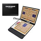 ALIXIN Cp038Basket-Ball Tableau Tactique, Coach Tableau Tactique, Tableau Tactique magnétique, Idéal Cuir et Pliable pour Basketball avec marqueur Effaçable à Sec et Tactiques kit.