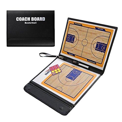 ALIXIN CP038Basketball Taktiktafel, Coach Taktiktafel, magnetisch Taktiktafel, Perfekt Leder und Faltbare für Basketball mit Dry Erase und Marker Pen Taktik Kit.