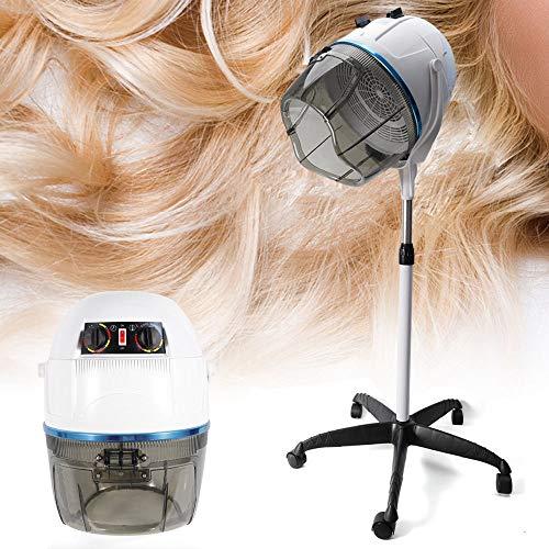 DiLiBee Einstellbar Trockenhaube Haartrockenhaube Haartrockner Haube Standfuß Salon Ständer Haartrockner Trockner Salon Friseur Standfuß 950W (Weiß) (Haar Haube Trockner)