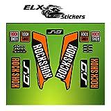 Pegatinas HORQUILLA Rock Shox Sid 2016 ELX37 Stickers Aufkleber AUTOCOLLANT Decals Bicicleta Cycle MTB Bike 26