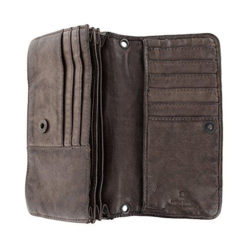 Bear Design Borsa a tracolla, portafoglio (17/ 10/ 3 cm) CL13995 intrecciato, in pelle lavata Grigio