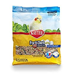 Kaytee Forti Diet Egg-Cite Food for Cockatiels, 5-Pound Bag