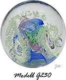 Traumkugel- Briefbeschwerer medium: Bunter Grund - fluoreszierend/Nachtleuchtende Blasen