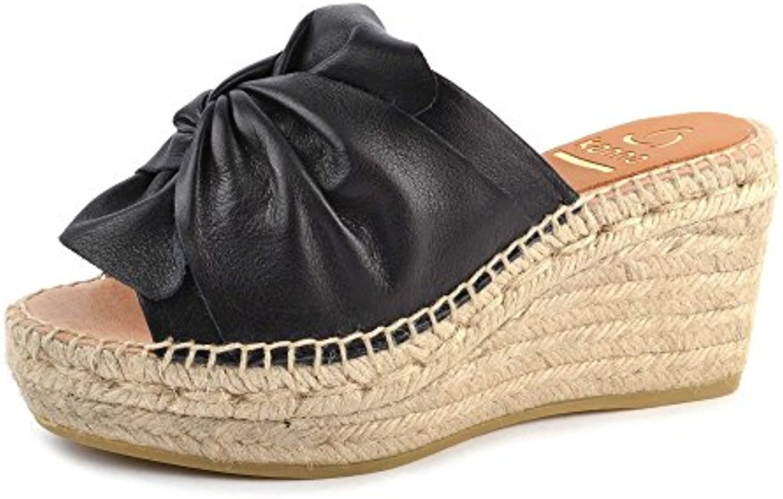 Kanna Zapatos Capri Alpargatas Sandalias Negro Mujer