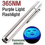 Heligen Linterna Ultravioleta Led, 365nm LED Linterna, Detector de Manchas de Orina, Buscador de Chinches, Perro/Gato Quitamanchas