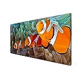 Schwarze Magnettafel von banjado | Design Memoboard 37x78cm | Metall Pinnwand mit Motiv Clownfische