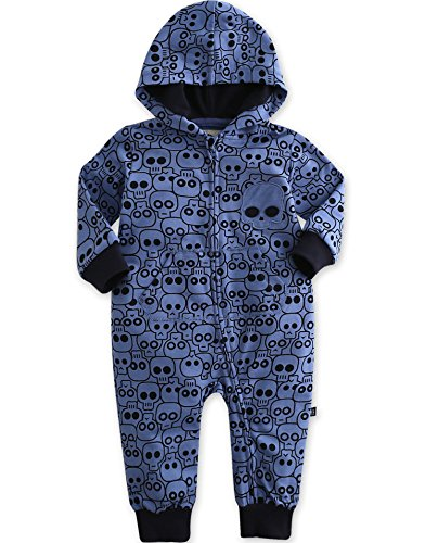Vaenait Baby 6-24M Jungen Infant Hooded Fruehling Jumpsuit Rompers Blue Jack L Alter Hoody