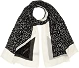Calvin Klein Damen Schal CK Allover Scarf, Schwarz (Black 001), One Size (Herstellergröße: OS)