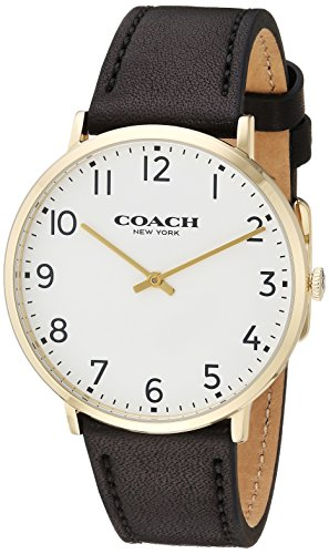 White Dial Mens Analog Casual Quartz Coach Watch Slim Easton 14602125
