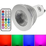 MENGS® GU10 4W LED RGB Lampe Birne SMD LEDs LED farbwechsel Strahler Licht Leuchtmittel mit IR-Fernbedienung (200lm, AC 100 - 240V, 50 x 62mm) - multicolor dimmbar inklusive Infrarot-Ferbedienung