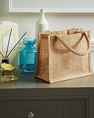 Westford (Moulin à Shimmer Jute Mini sac cadeau Doré Shimmer détail fil Longueur du manche 35cm