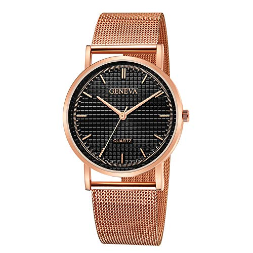 COOKDATE Damen Armbanduhr Quarzuhr Damen High End Blue Glass Life Waterproof Distinguished Damen Uhren Billig Rose Gold - Büro Für Damen-uhr