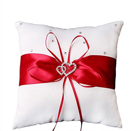 Ring-Träger-Kissen-Kissen, die Hauptrhinestone-Doppelt-Herz-Geschenke Wedding sind (Geschenk Für Ring-träger)
