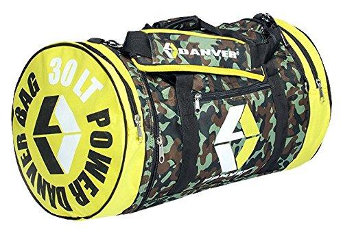Danver Power Camouflage Borsone Sportivo, Mimetico/Giallo, 30 l