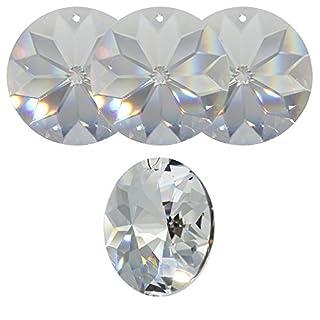4 Stück Kristall Sonne ø 45mm Hoch Brillant Regenbogenkristall Feng Shui Fenster-Deko Facettenreich Sonnenfänger Suncatcher