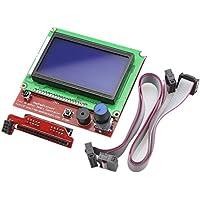 Redrex Pantalla Completa 12864 LCD Smart Display Controller para RepRap RAMPS 1.4 Impresora 3D Mendel Prusa Arduino Mega Junta
