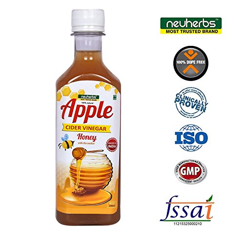 Neuherbs Apple Cider Vinegar with the Mother and Honey – 350ml Raw, Unfiltered & Undiluted