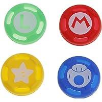 Baodanjiayou 4pcs antidérapant Pouce Grips Thumbstick Caps Coque pour Nintendo commutateur Joy-Con contrôleur