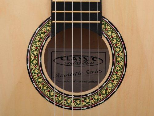 Classic Cantabile AS-851 4/4  Konzertgitarre Natur (Akustikgitarre , geeignet für Kinder im Alter ab 12 Jahren, Bundmarkierung, Nylonsaiten) - 4