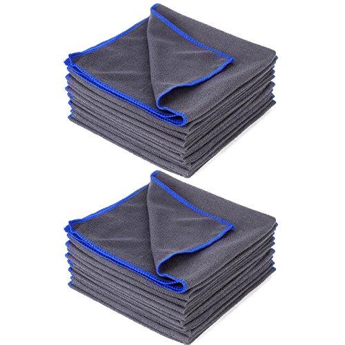 20x-Microfasertuecher-Tuch-40-x-40-cm-Mikrofaser-Poliertuch-Staubtuch-Microtuch-Auto-Haus-Reinigung-Tuecher