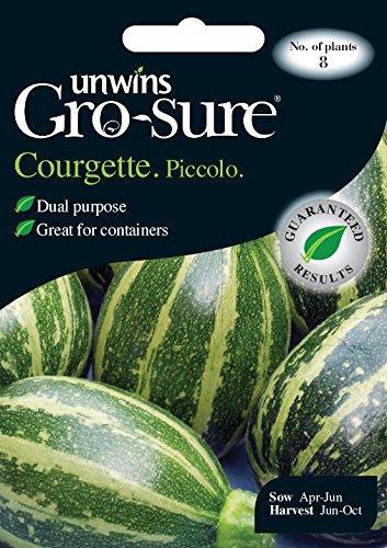 Unwins générations des paquets - Courgette Piccolo - 8 Graines