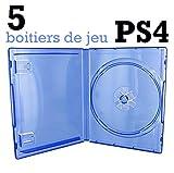 5cajas vacías PS4–azul transparente