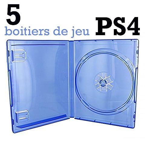 Boitier Jeu Ps4 - 5 BOITIERS VIDES PS4 - BLEU