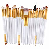 Leisial 20PCS Professional Pinsel Make-up Pinsel Set Kosmetik Pinsel Set Lidschatten Make-up Pinsel Set,Weiß Golden