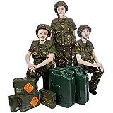 Los niños de camuflaje del ejército Casco / Asalto chaleco / la camiseta / Pantalones Edad Combo 3 - 14 años (9-10 años )