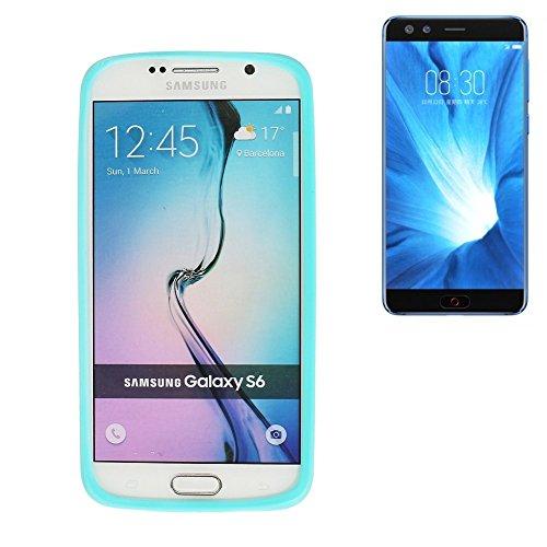 Für Nubia Z17 mini S Silikon Bumper aus TPU Türkis / Blau Schutzrahmen Schutz Ring Smartphone Case Hülle Schutzhülle für Nubia Z17 mini S - K-S-Trade (TM)