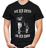 Uglyshirt89 wie der Vater So der Sohn Männer und Herren T-Shirt | Freundschaft Papa Vatertag Familie | Angler (Schwarz, XXXL)
