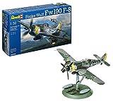 Revell Modellbausatz Flugzeug 1:32 - Focke Wulf Fw190 F-8 im Maßstab 1:32, Level 5, originalgetreue Nachbildung mit vielen Details, 04869