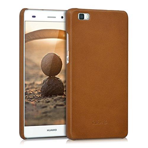 kalibri-Echtleder-Backcover-Hlle-fr-Huawei-P8-Lite-Leder-Case-Cover-Schutzhlle-in-Cognac