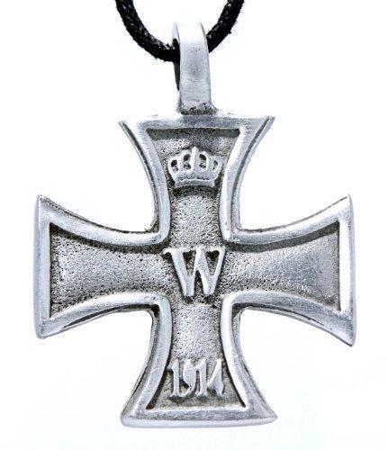 Eisernes Kreuz Anhänger aus Zinn mit Baumwollband